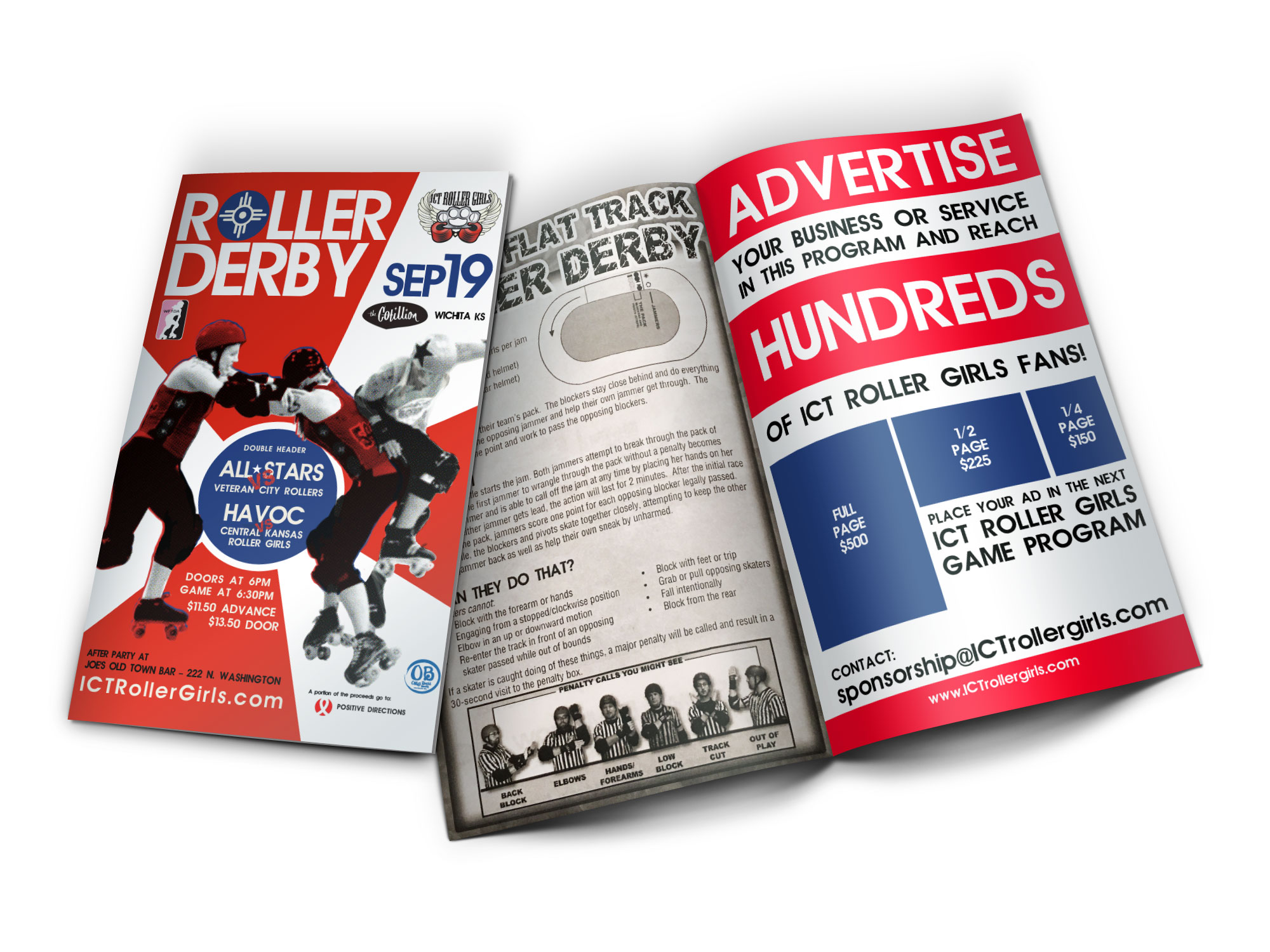 ICT Roller Girls 2016 Home Program Advertising Options