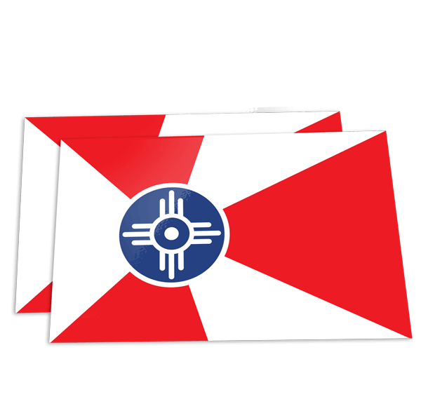 Wichita Flag Sticker ICT Roller Girls